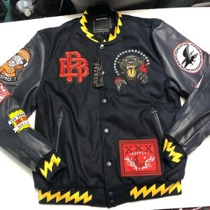 Reason clothing black Panther varsity jacket XL